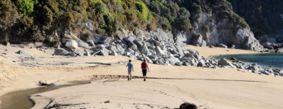 Abel Tasman Walking on Beach