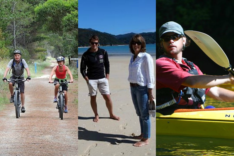 Great taste Trail cycling plus hiking & sea kayaking in Abel Tasman
