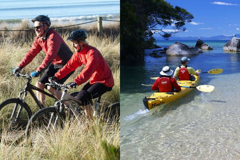 Two days Great Taste Trail plus sea kayak Abel Tasman