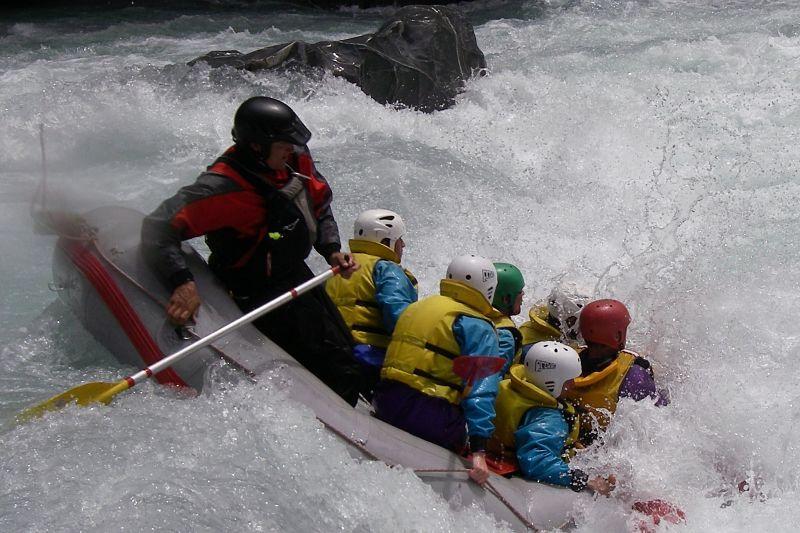 Heli-rafting on the Karamea River